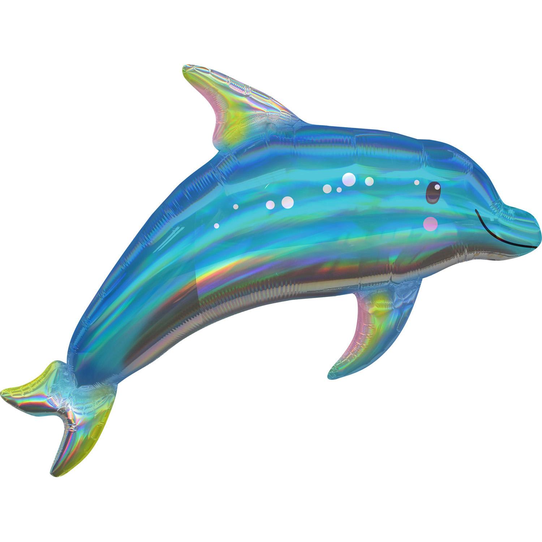 Amscan Fóliový balón holografický delfín 73 x 68 cm