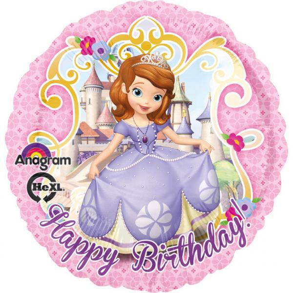 Amscan Fóliový balón Sofia Prvá - Happy Birthday 43 cm