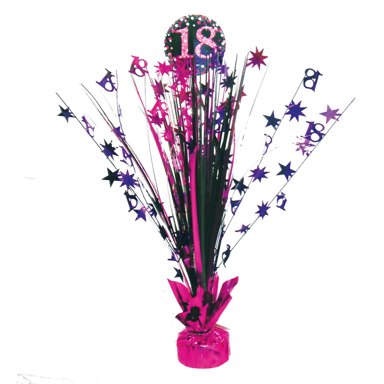 Amscan Dekorácia na oslavu - trblietavé 18. narodeniny (ružová)
