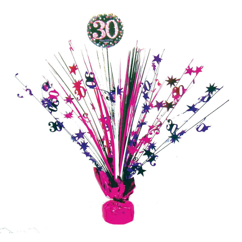 Amscan Dekorácia na oslavu - trblietavé 30. narodeniny (ružová)