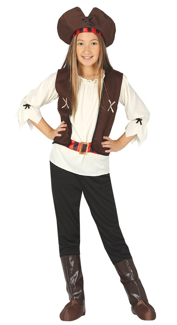 Guirca Detský kostým Pirátka Veľkosť - deti: M