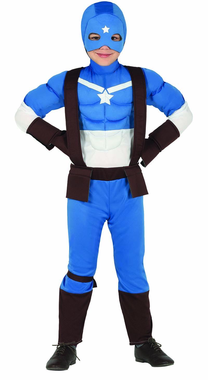 Guirca Detský kostým - Kapitán Amerika Veľkosť - deti: S