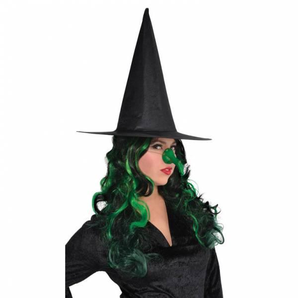 Amscan Čarodejnícky zelený nos