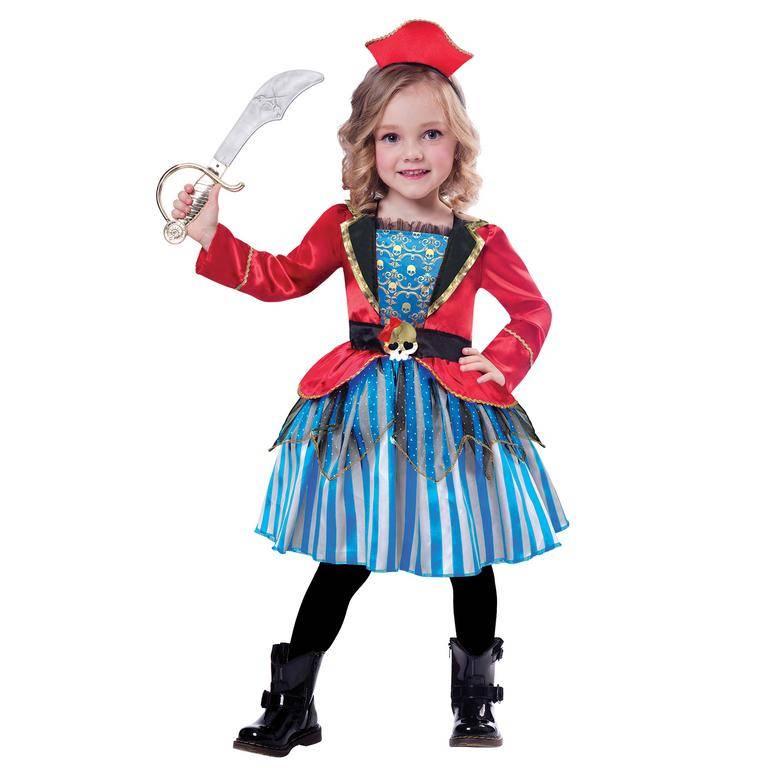 Amscan Detský kostým - Roztomilá pirátka Veľkosť - deti: S