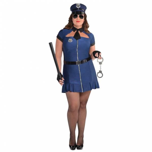Amscan Dámsky kostým - Sexy policajtka (PLUS)