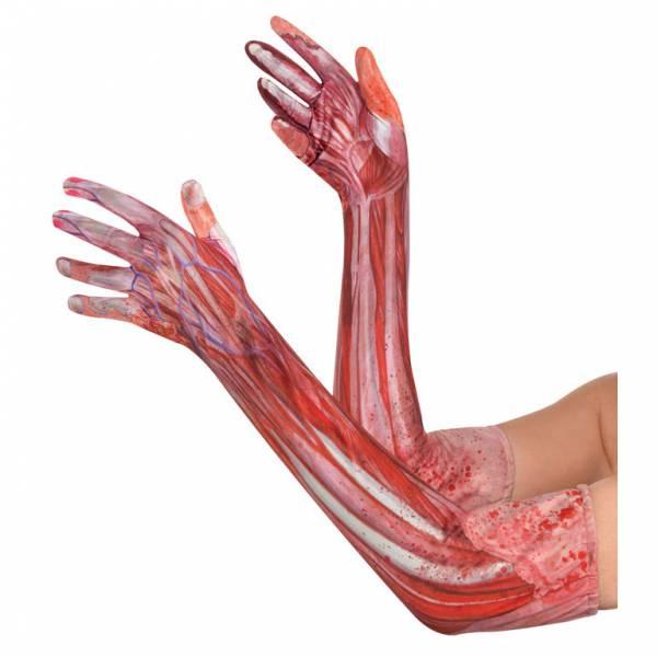 Amscan Krvavé dlhé rukavice