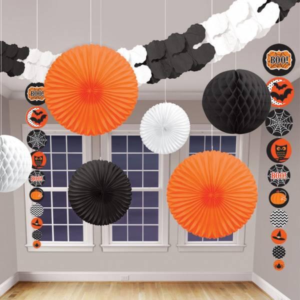 Amscan Set papierových visiacich dekorácií - Halloween 9 ks