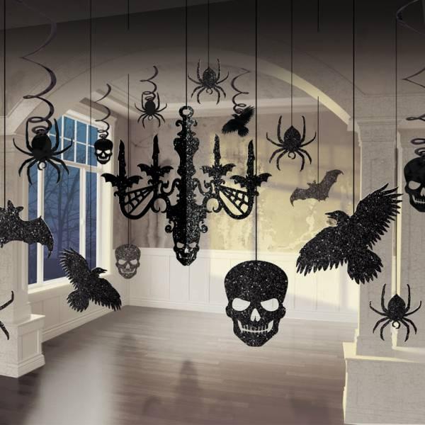 Amscan Set papierových visiacich dekorácií - Flitrovaný luster