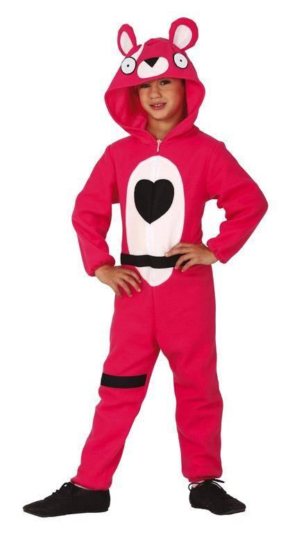 Guirca Detský kostým - Teddy bear ružový (Fortnite) Veľkosť - deti: 10 - 12 rokov