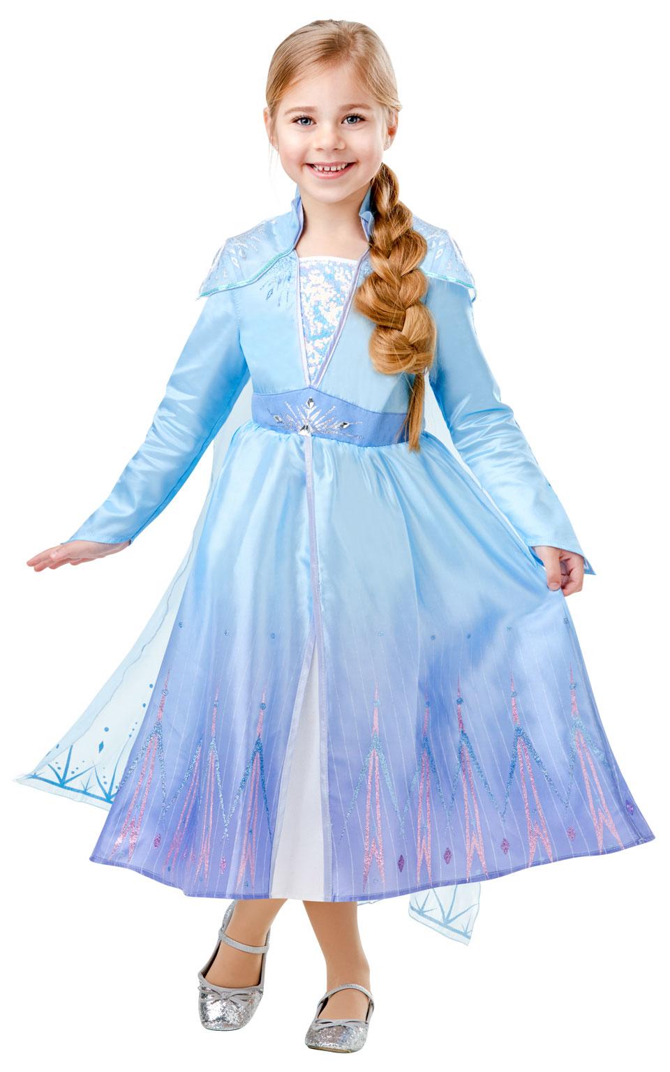 Rubies Detský deluxe kostým - Elsa (šaty) Veľkosť - deti: M