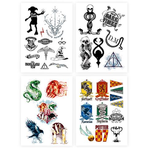 Cinereplicas Sada 35 dočasných tetovaní Harry Potter