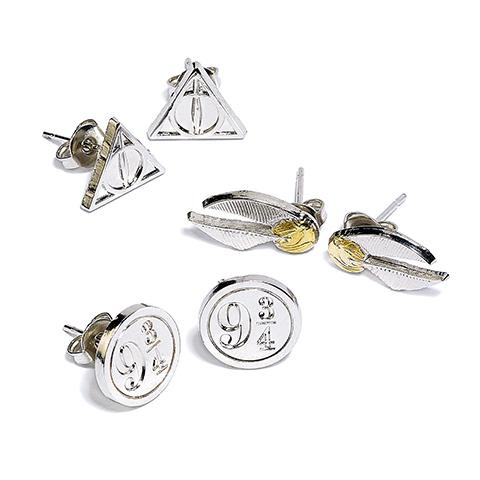 Carat Shop Sada 3 párov náušníc Harry Potter