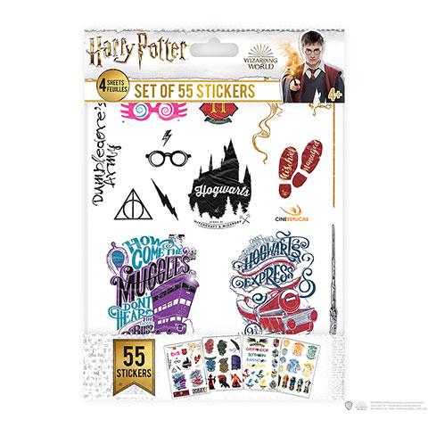 Cinereplicas Sada 55 nálepiek - Harry Potter