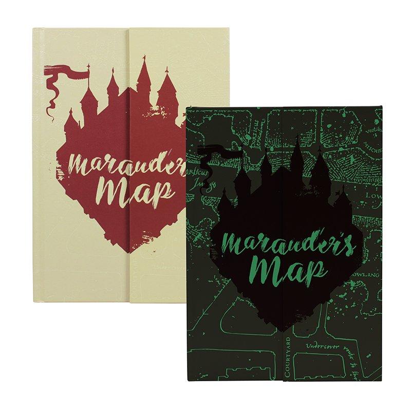 Half Moon Bay Zápisník svietiaci v tme Harry Potter - Záškodnícka mapa