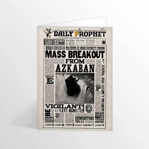 Minalima Pohľadnica Denný prorok Útek z Azkabanu - Harry Potter