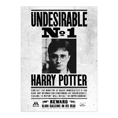 Minalima Plagát Undesirable No.1 - Harry Potter