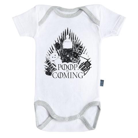 Baby-Geek Detské body - Poop is coming Veľkosť najmenší: 3 - 6 mesiacov