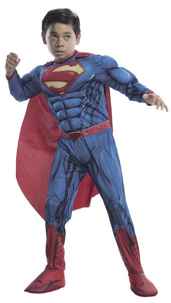 Rubies Superman Deluxe - detský Veľkosť - deti: L - Výška 125-135 cm