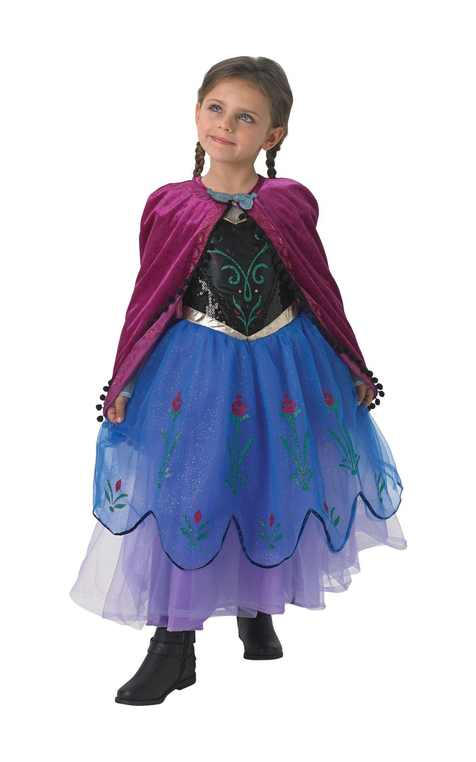 Rubies Kostým Frozen: Anna Premium Veľkosť - deti: M