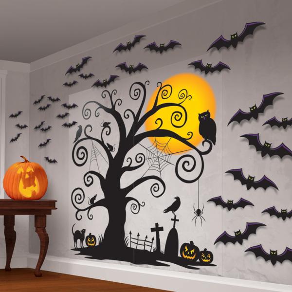Amscan Dekorácia na stenu - Strašidelný strom 32 dielna sada