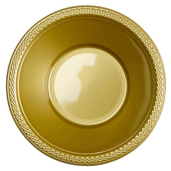 Amscan Misky plastové zlaté 10 ks
