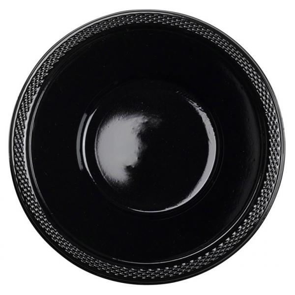 Amscan Misky plastové čierne 10 ks