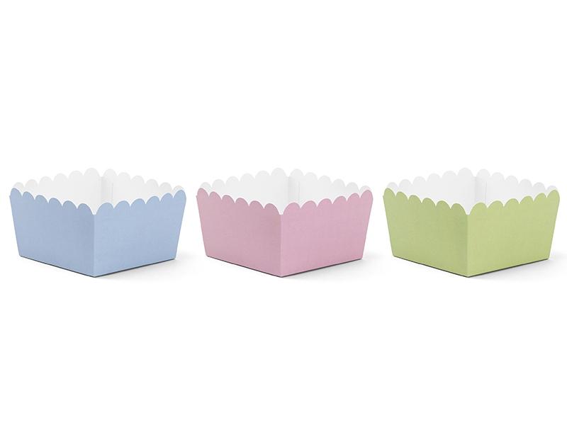 PartyDeco Krabičky na sladkosti - pastelové 6 ks