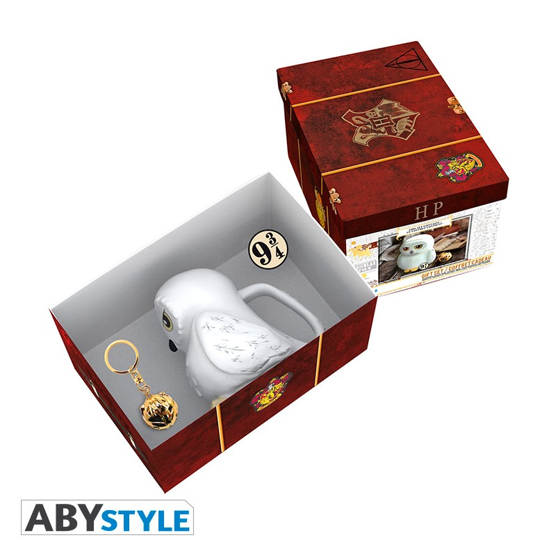 ABY style Sada 3D hrnček Hedviga, kľúčenka a brošňa - Harry Potter