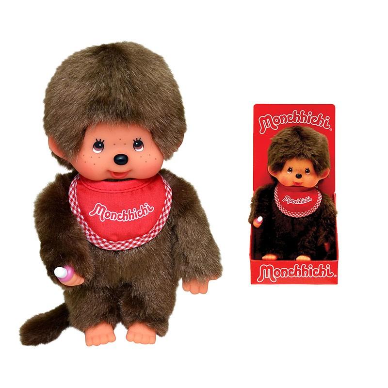 MONCHHICHI - chlapček s červeným podbradníkom