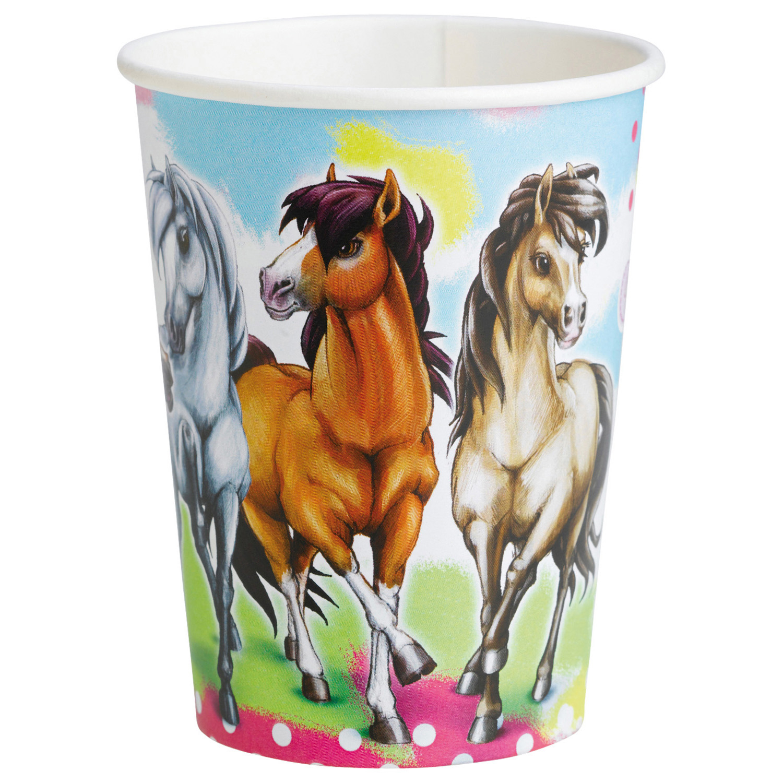 Amscan Plastové poháre - Koníky 8 ks 250 ml