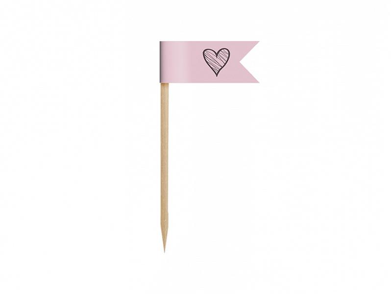 PartyDeco Mini vlajky na cupcakes - Sladkosti 6 ks