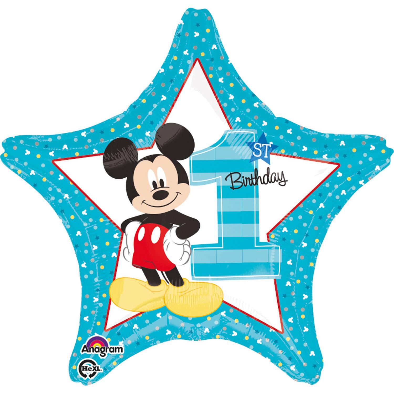 Amscan Foliový balón - Prvé narodeniny Mickey
