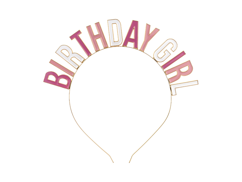 PartyDeco Párty čelenka - Birthday girl