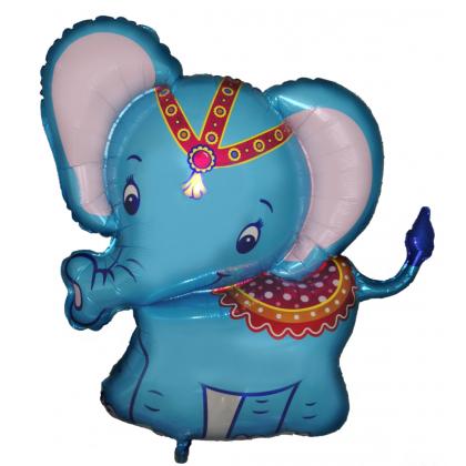 BP Fóliový Balón Sloníča cirkus - modrý