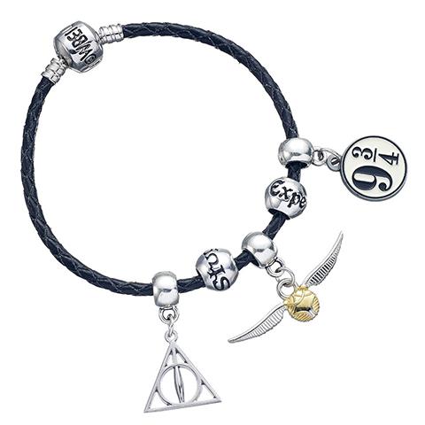 Distrineo Náramok čierny s príveskami - Harry Potter