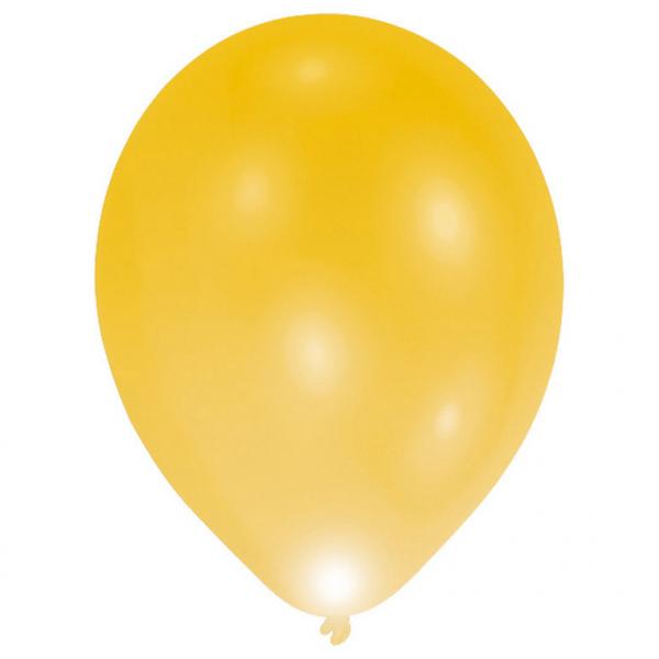 Amscan LED balóniky zlatý 5 ks