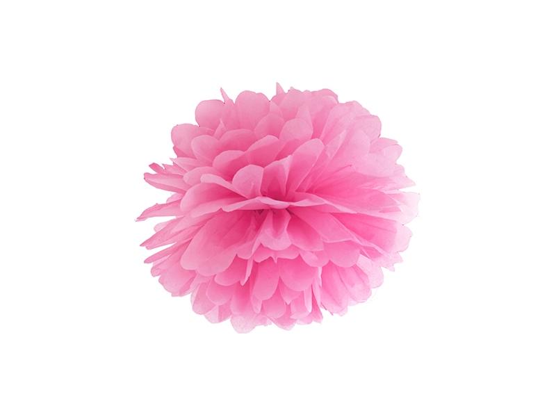 PartyDeco Pompom v tvare kvetu ružový 25 cm