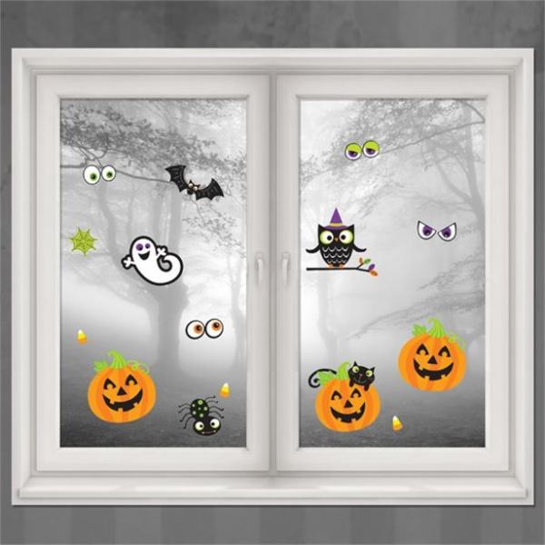 Amscan Dekorácie na okno Halloween 15 ks