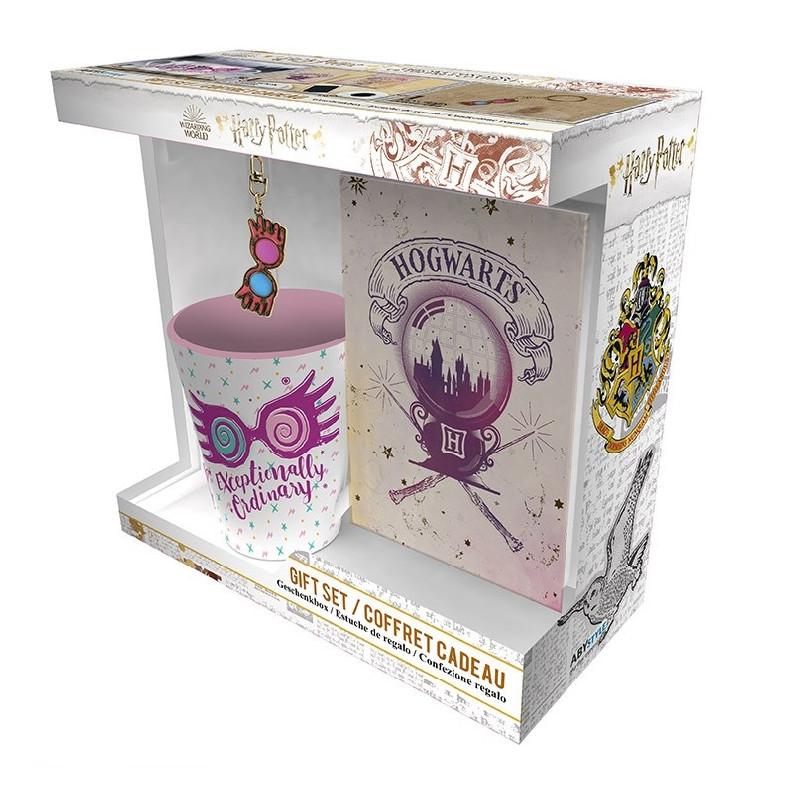 ABY style Sada Harry Potter - Hrnček, kľúčenka a zápisník Luna Lovegood