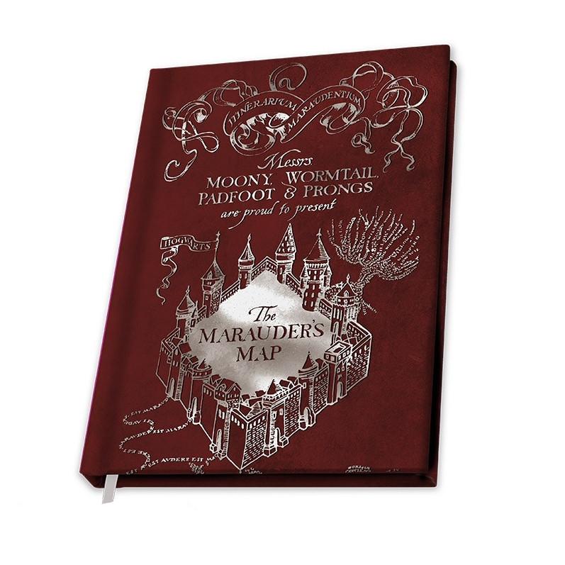 ABY style Zápisník Harry Potter - Mapa Záškodníkov červený