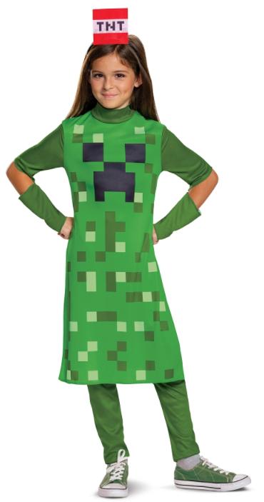 Godan Detský dievčenský kostým - Minecraft Veľkosť - deti: M