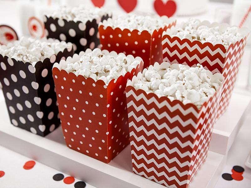 PartyDeco Dekoratívne boxy pre popcorn - Lienka 6 ks