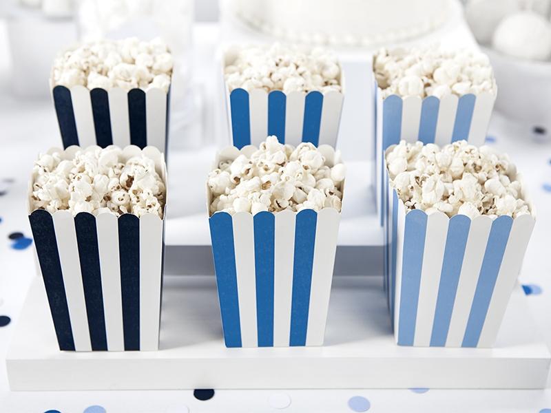 PartyDeco Dekoratívne boxy pre popcorn - Lietadlo 6 ks
