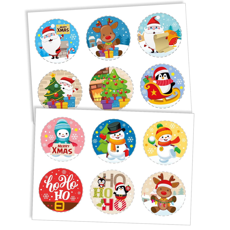 Dekora Mix jedlých obrázkov - Vianoce 12 ks