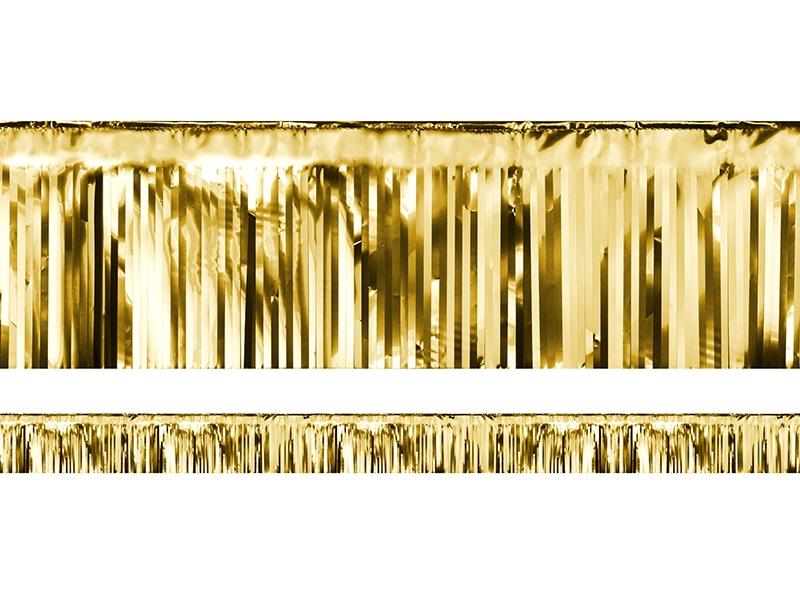 PartyDeco Party záves zlatý 18,5 x 400 cm
