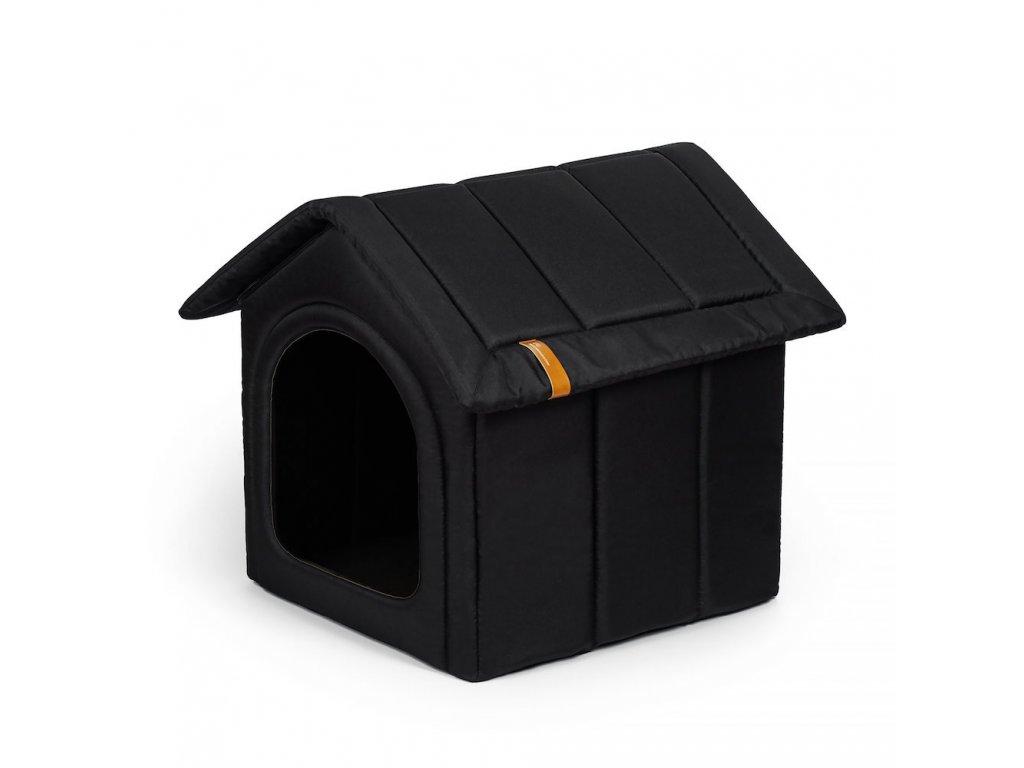 latkova bouda pro psa cerna