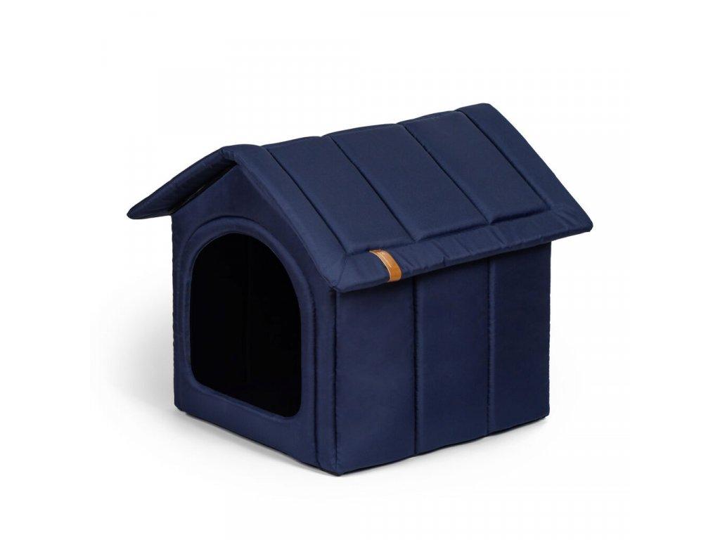 latkova bouda pro psa modra