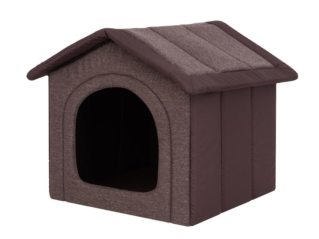 latkova bouda pro psa hneda