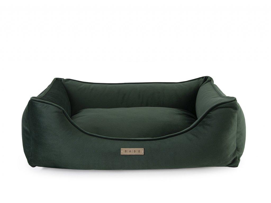 luxusni pelisek pro psa velvet lahvove zeleny