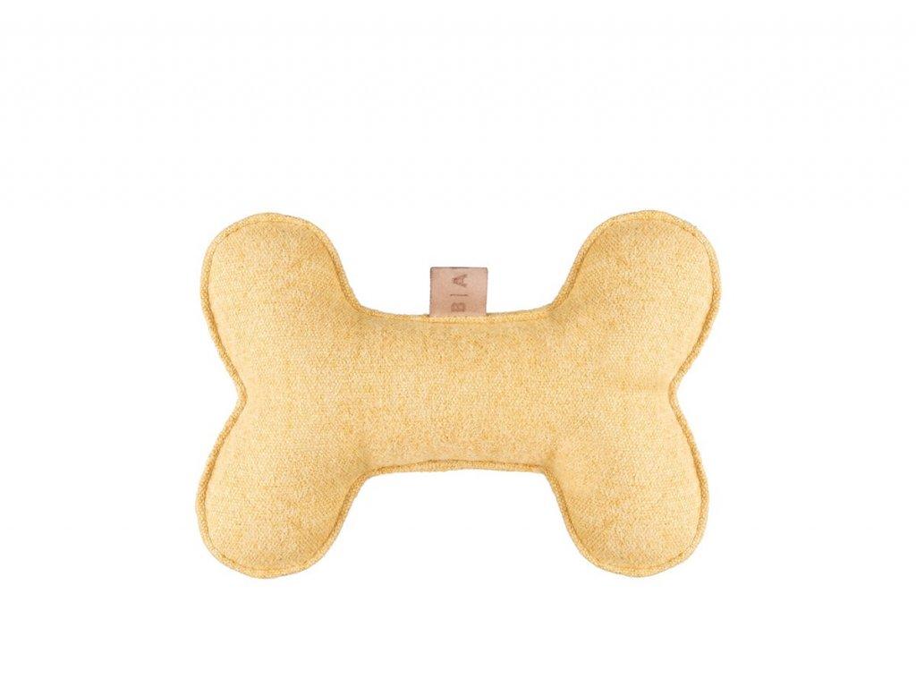 hracka pro psy kost zluta